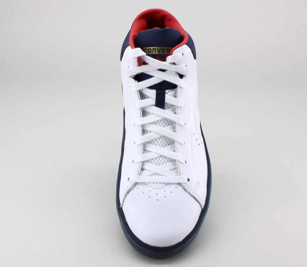 Converse Pro Leather 2012 Mid WhiteNavyRed | Sole Collector