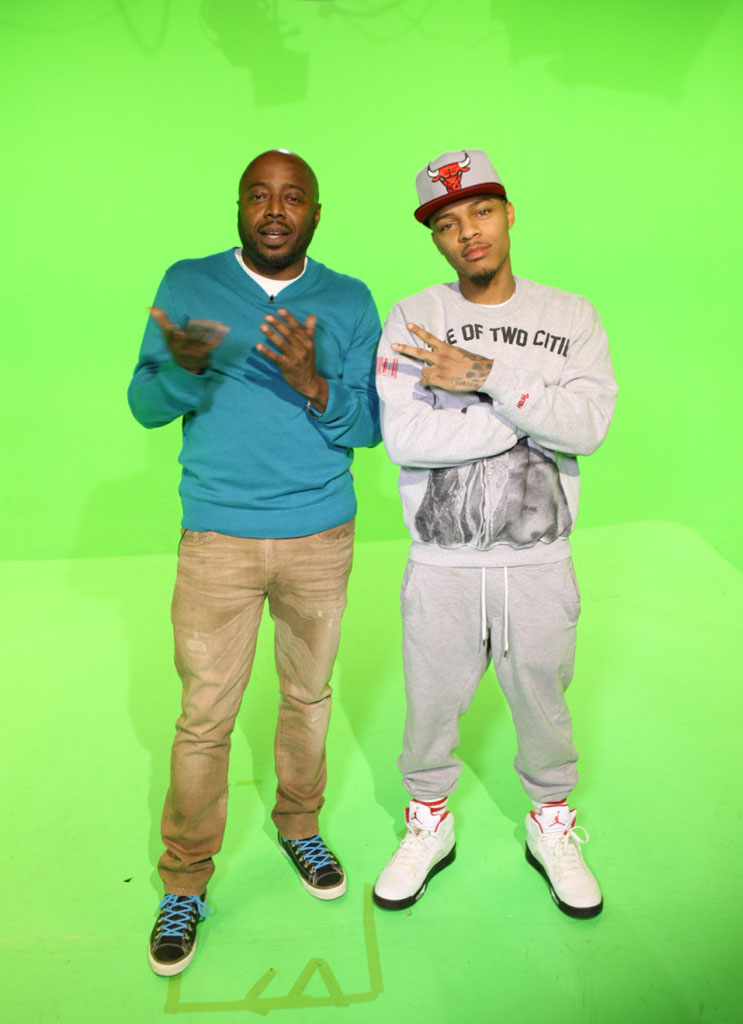 Bow Wow wearing Air Jordan 5 V Retro Fire Red