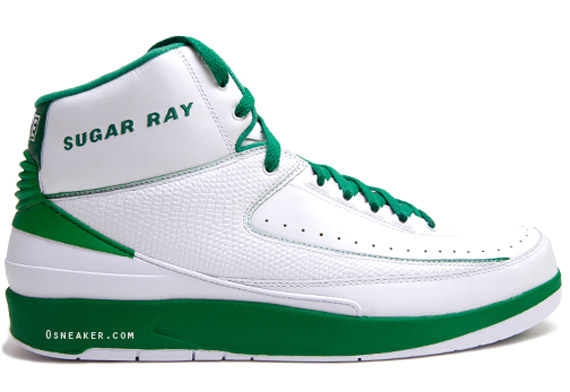 a39365a293c Closer Look  Air Jordan Retro 2 - Ray Allen Boston Celtics PE