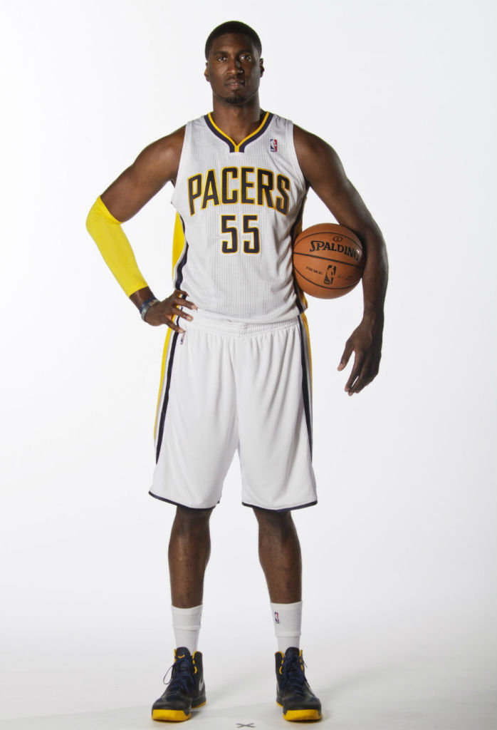 Roy Hibbert wearing Nike Zoom Hyperfuse 2012 PE