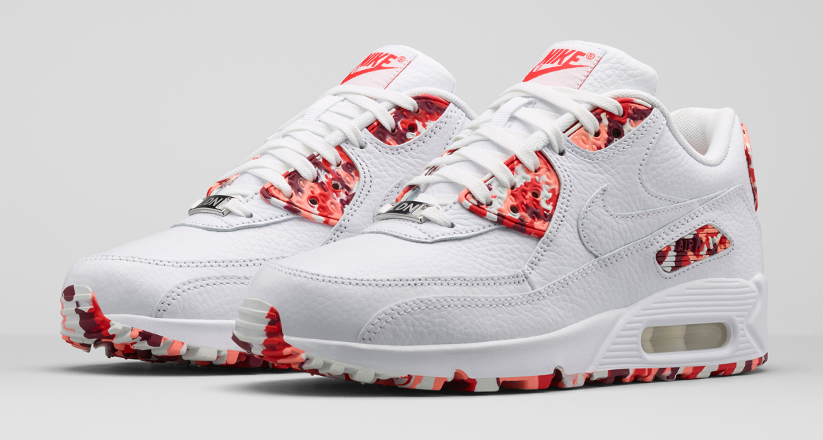 Nike Air Max 90 QS LONDON Eton Mess Weiß Challenge Rot