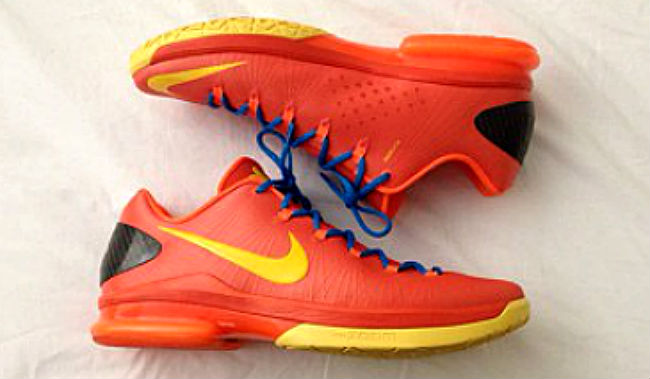 Nike KD V Elite Team Orange Tour Yellow Total Orange Photo Blue 585386-800 (2)