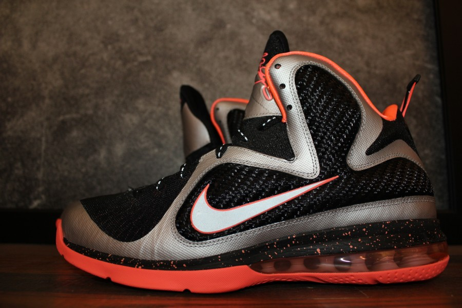 Nike LeBron 9 - Metallic Silver Bright Mango - New Images  b00b8d4279b0