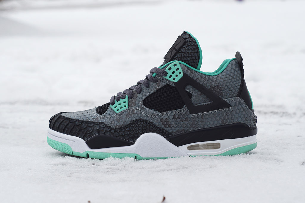 Air Jordan 4  Python Green Glow  by JBF Customs (1) c735f47e6