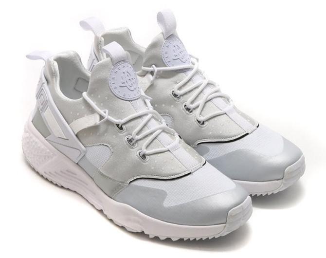 mens nike huarache utility grey black