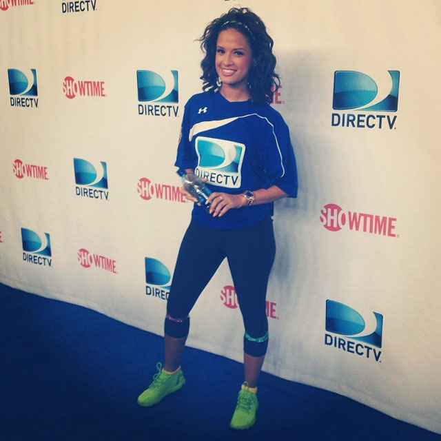 Rocsi Diaz wearing Under Armour SpeedForm Running Shoe