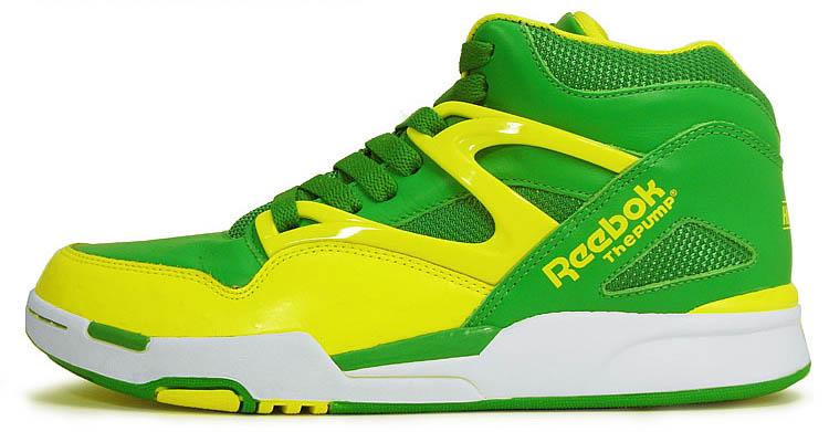 Reebok Pump Omni Lite Hero Green Yellow White J12420 (1) 63698b3e42