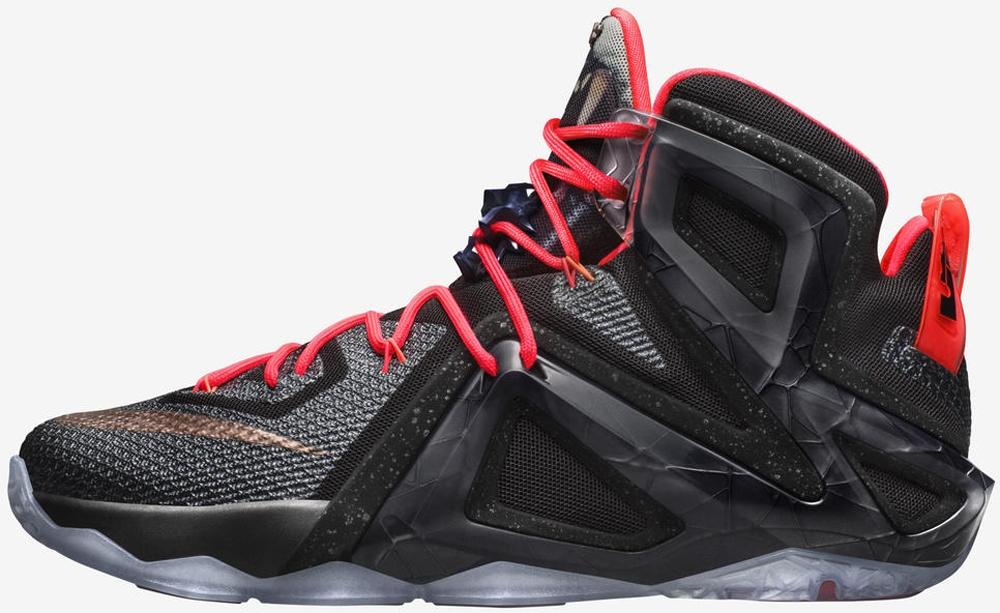Nike LeBron 12 Elite Black/White-Hot Lava-Metallic Red Bronze