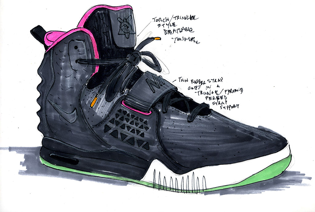Nike Air Yeezy II BlackSolar Red Sole Collector  Sole Collector