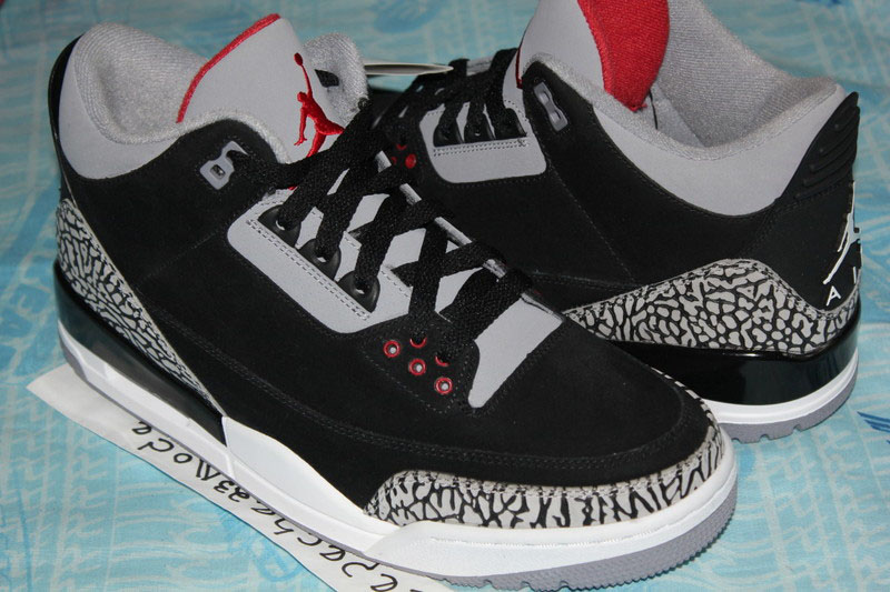 Air Jordan III 3 Black Cement Nubuck Sample