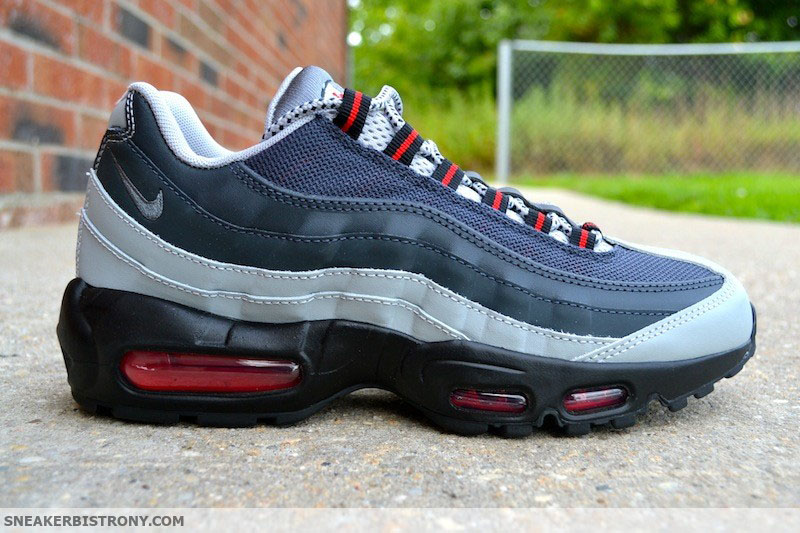 official photos b6317 99bcf Nike Air Max 95 SilverAnthracite-University Red (3)