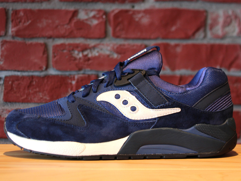 super popular c407b 71f75 Saucony Grid 9000 Premium Pack - Navy / White | Sole Collector