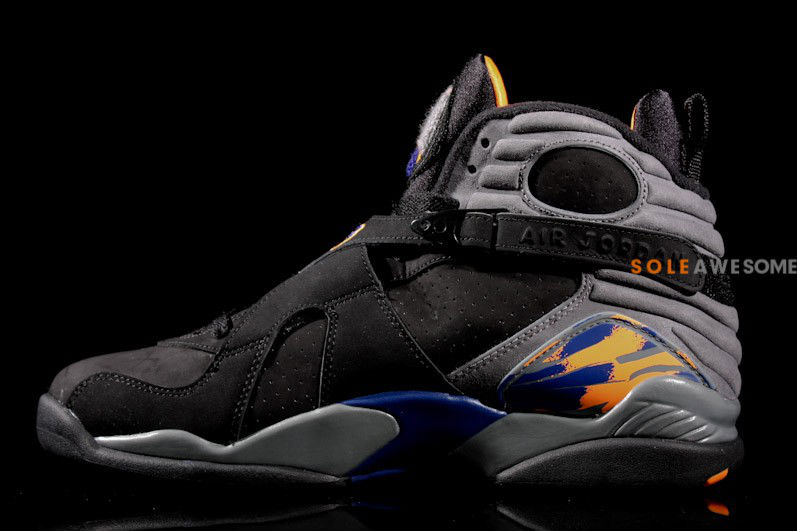 Air Jordan Retro VIII 8 Black Bright Citrus Cool Grey Deep Royal 305381-043 (4)