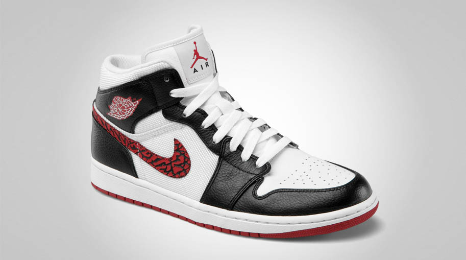 Air Jordan 1 Phat White Varsity Red Black 364770-110 (2)