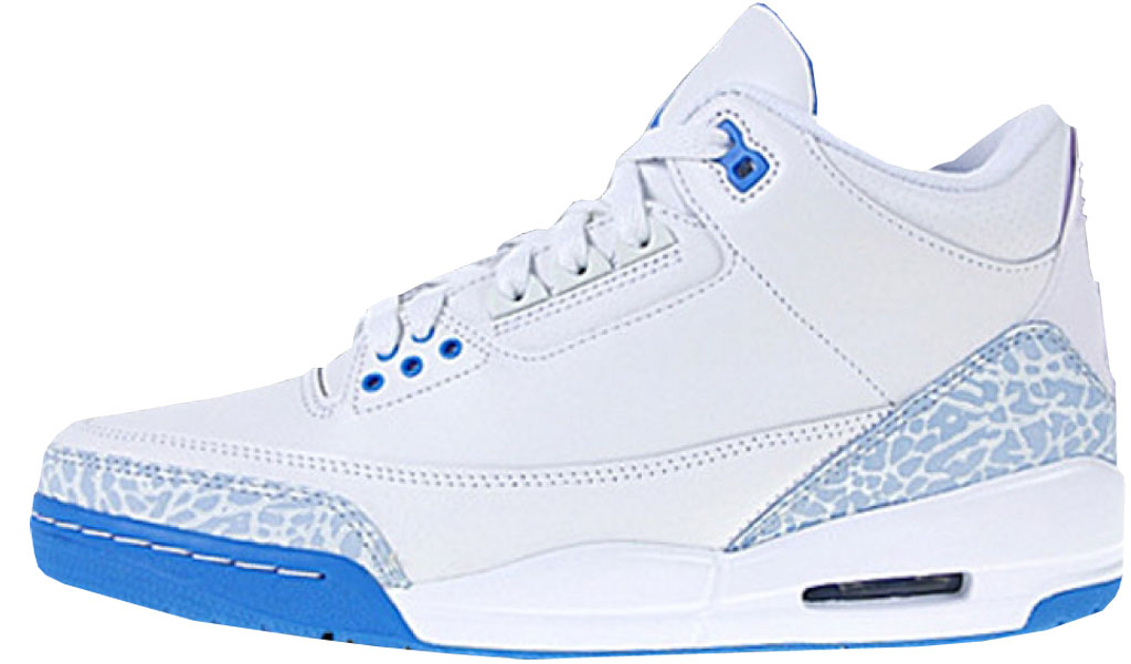 e26209f31e9 Air Jordan 3 Retro Women s 315296-142 White Harbor Blue-Boarder Blue