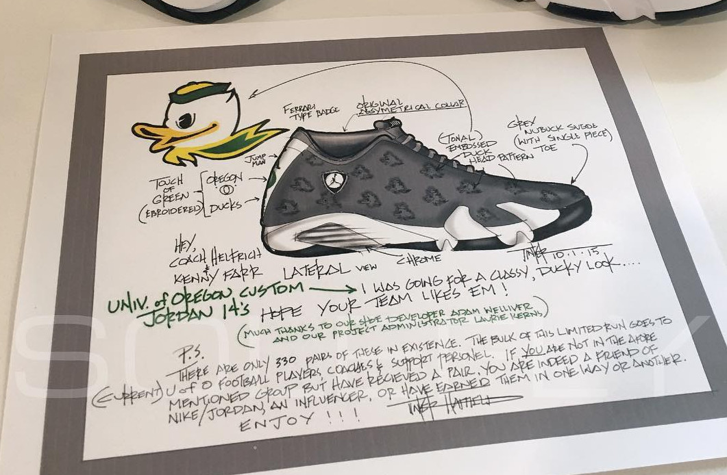 Oregon Jordan 14 Sketch