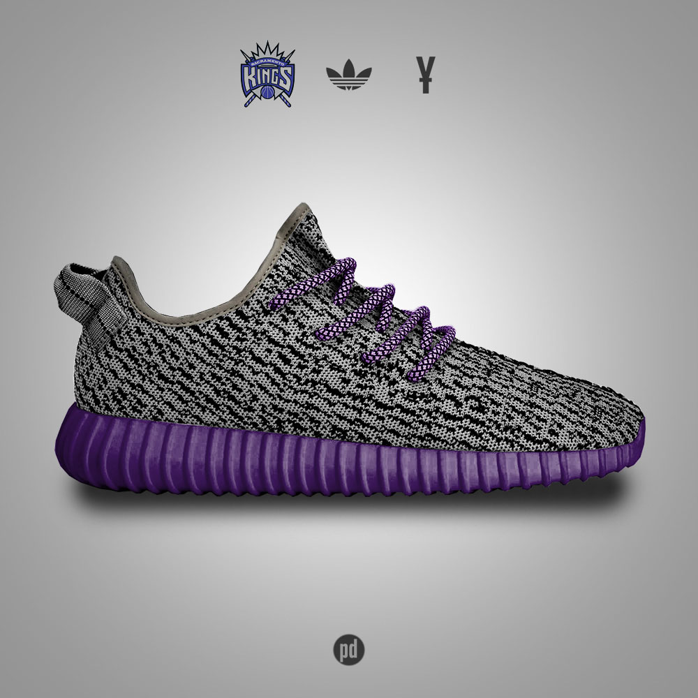 adidas Yeezy 350 Boost for the Sacramento Kings