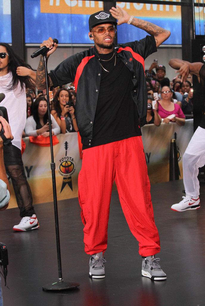 Chris Brown Wearing Cool Grey Air Jordan IV 4 Retro (2)