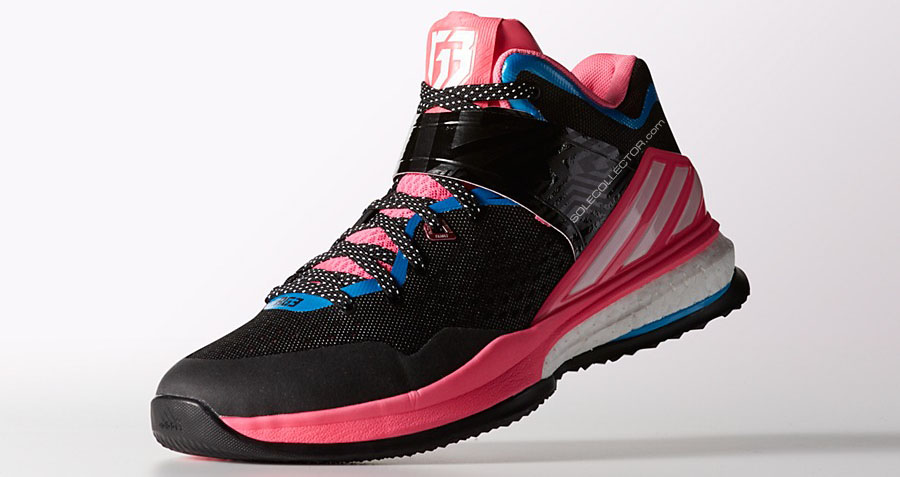 adidas RG3 Boost Trainer Black/Pink-Blue (4)