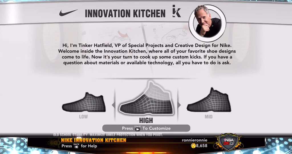 NBA 2K13 Sneaker Features // Tinker Hatfield