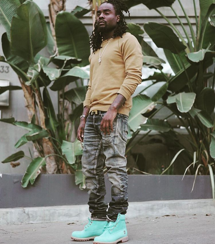 Wale wearing the  Gift Box  Villa x Timberland Boot 5f116320a