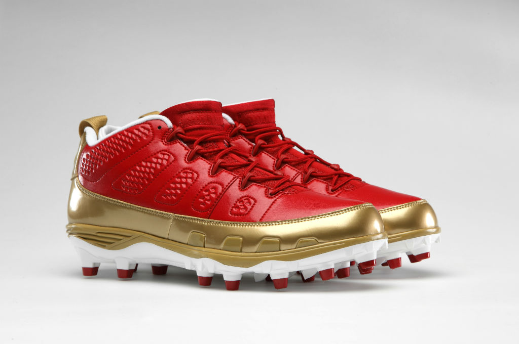 Air Jordan Retro IX 9 Cleats for Team Jordan - Michael Crabtree 49ers (1)