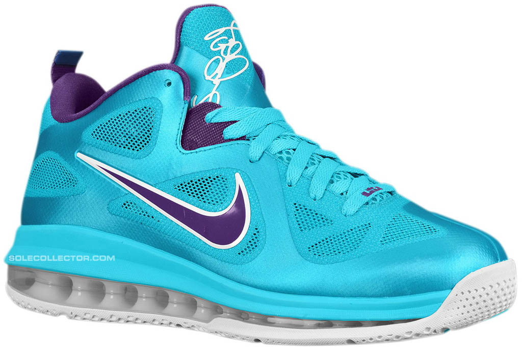 Nike LeBron 9 Low Summit Lake Hornets 510811-400 (1)