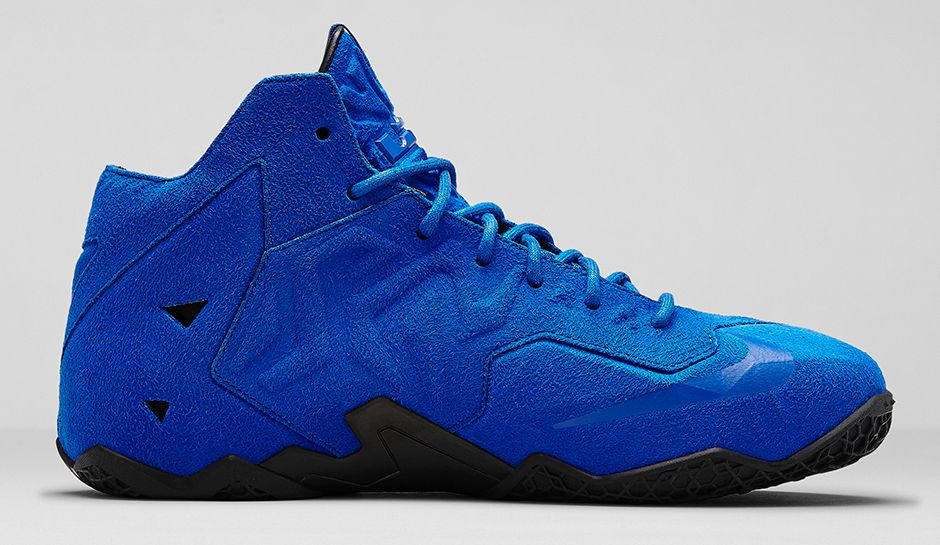 Nike LeBron 11 EXT Blue Suede Medial