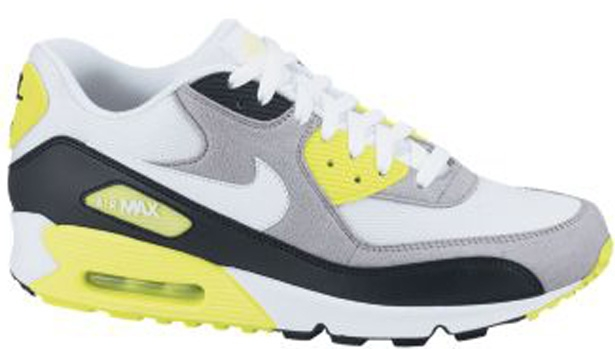 Nike Air Max '90 White/Cement Grey-Volt-Black