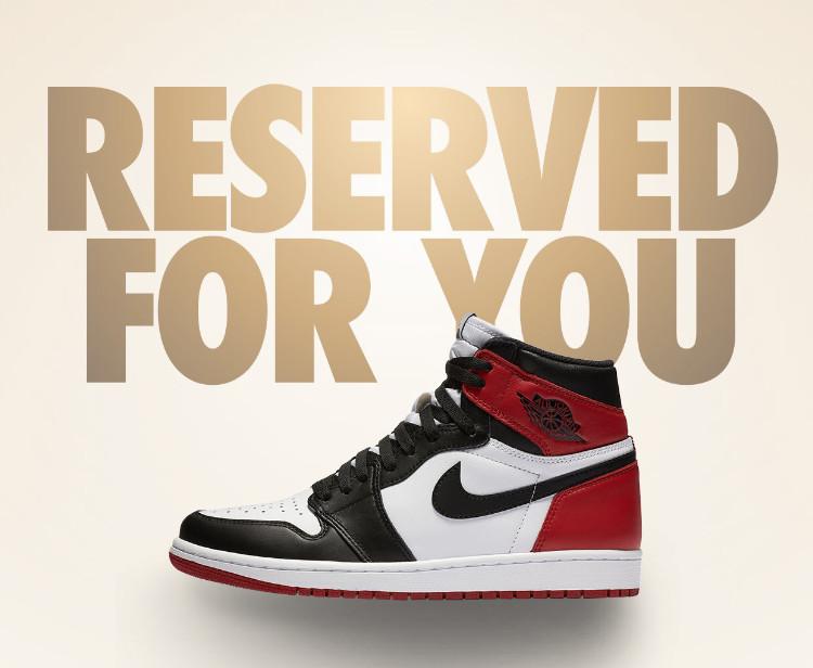 Black Toe Jordan 1 Reserved