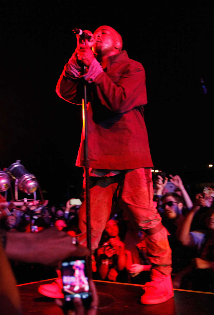 Kanye West wears Nike Air Yeezy 2 All-Red at Governor's Ball (8)