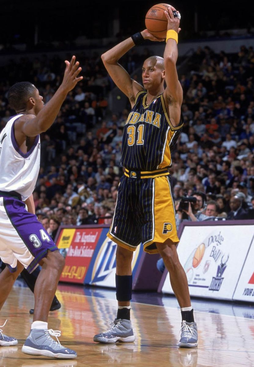 ffdf68b25c33 Flashback    Best Shoes Worn With the Original Indiana Pacers Pinstripe  Uniform