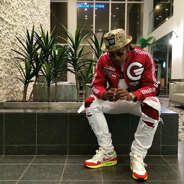 Trinidad James wearing Nike Air Max 1 Air Max Day