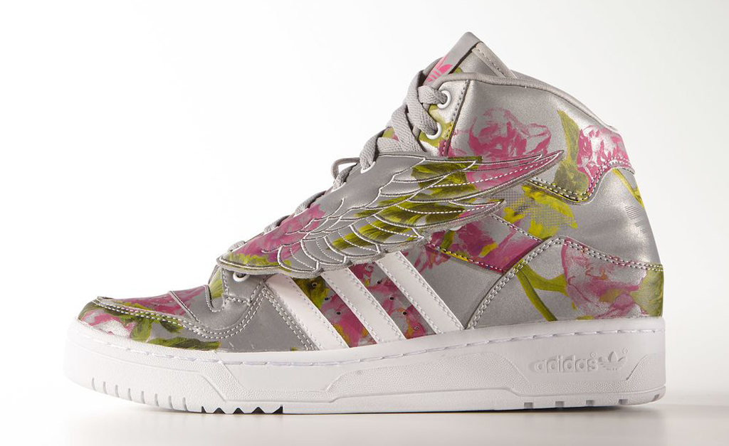 aa0548aa3ea9 The  Reflective  JS Wings Floral are available now at adidas.com as well as  select adidas Originals retailers worldwide for  220. Tags. ○ Jeremy Scott