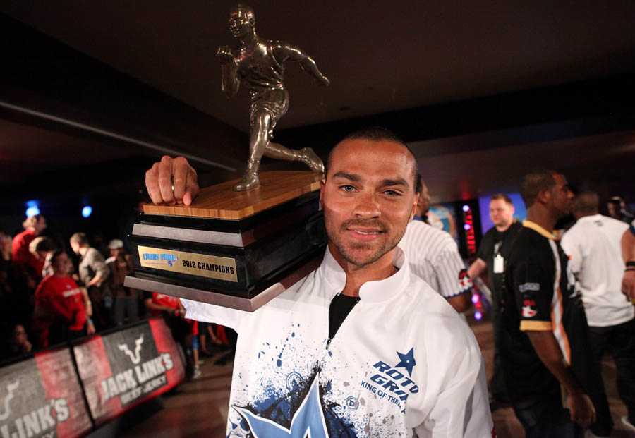 Chris Paul PBA Celebrity Bowling Tournament 2012 - Jesse Williams