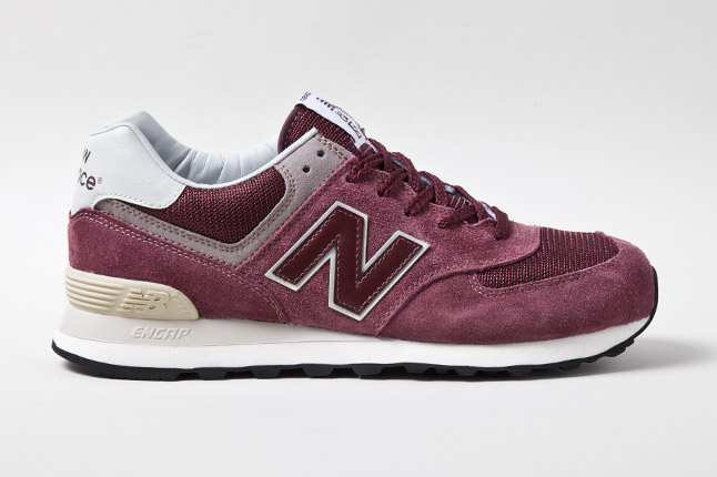 new balance classic new balance 574 burgundy suede
