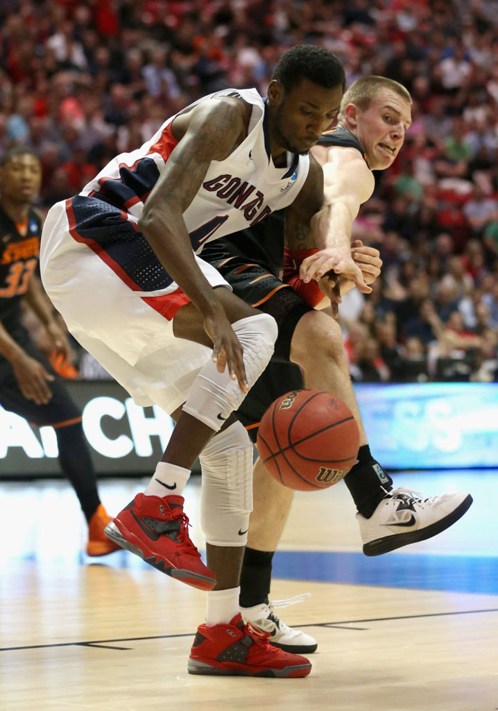Gerard Coleman wearing Nike Air Force Max 2013 Fire Red
