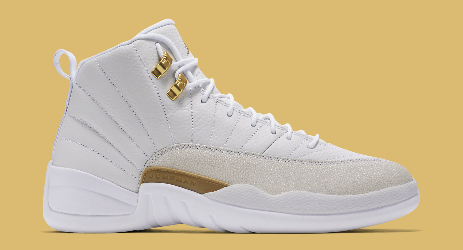 87b88bff1af0 OVO Air Jordan 12 White Profile