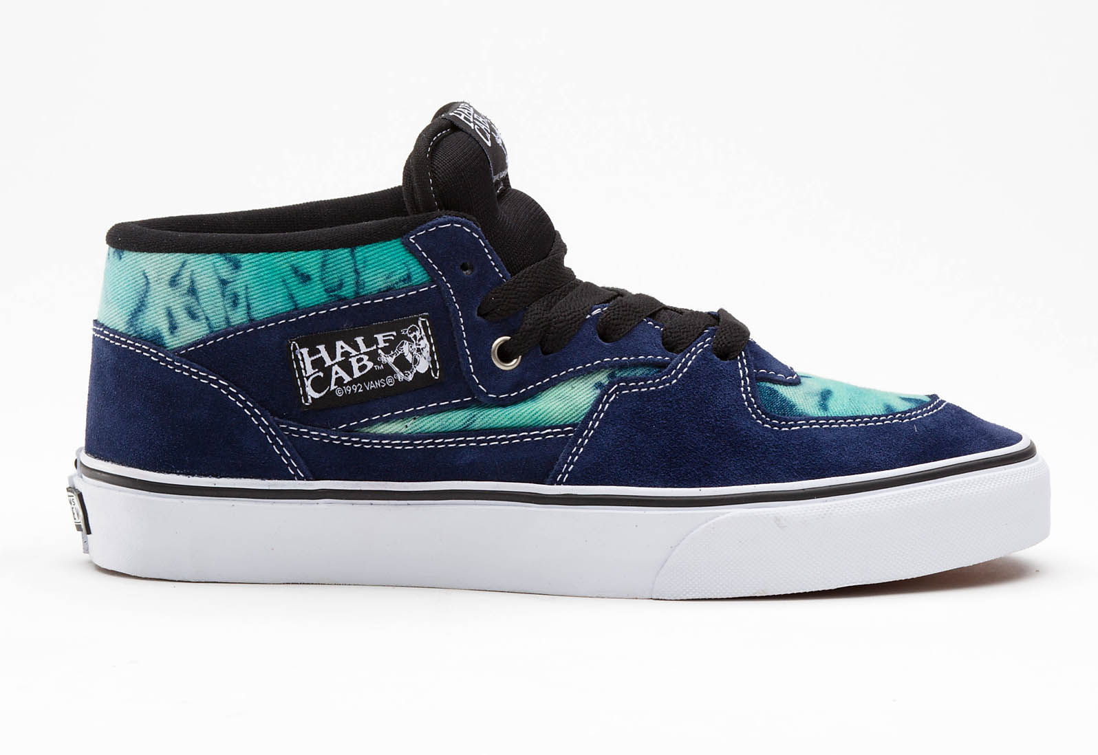 bf1640e2711d77 Two tie-dyed looks hit the classic Vans Half Cab in blue and black  colorways.