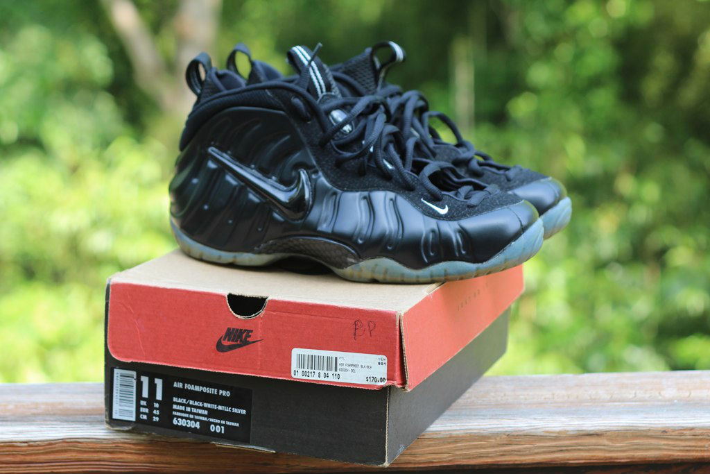 Spotlight // Pickups of the Week 5.26.13 - Nike Air Foamposite Pro Black Metallic Silver by watchmyshoes96