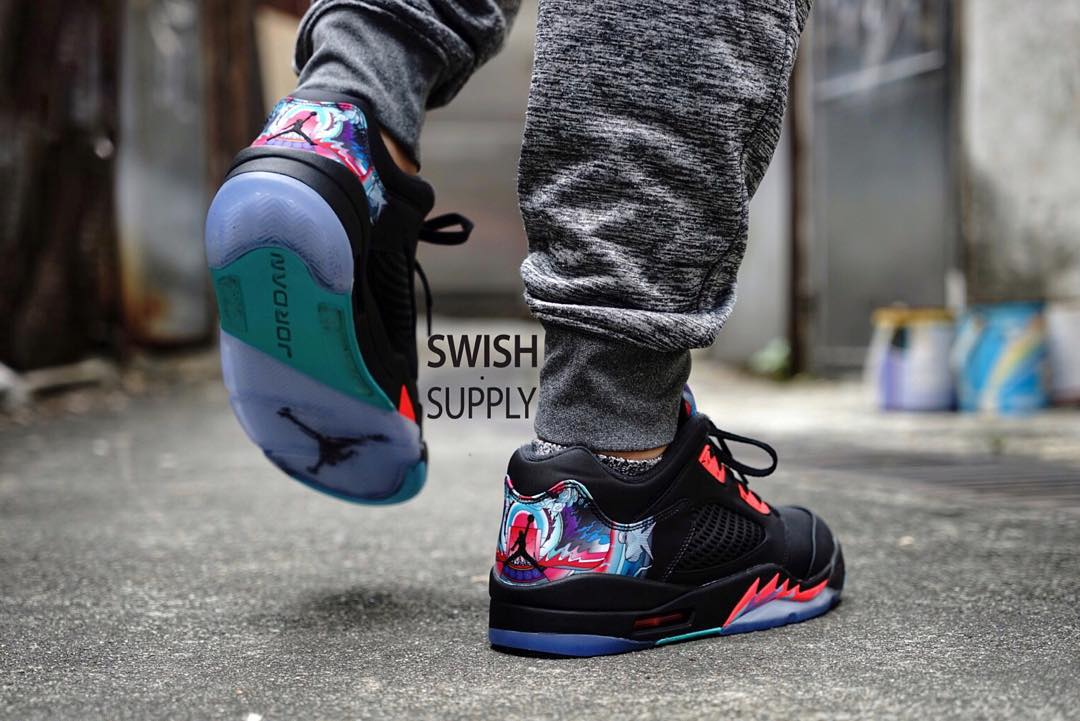 1b107cc1664e See What the  China  Air Jordan 5 Low Looks Like On-Foot