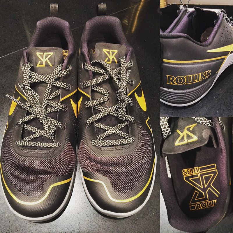 5706b836dc5 WWE Champion Seth Rollins Has His Own Custom Nike Sneakers