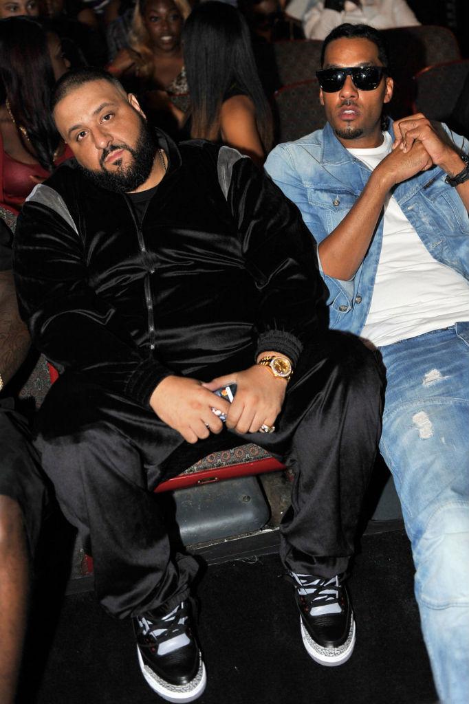 c7781e05501e DJ Khaled wearing Air Jordan III 3 Retro Black Cement