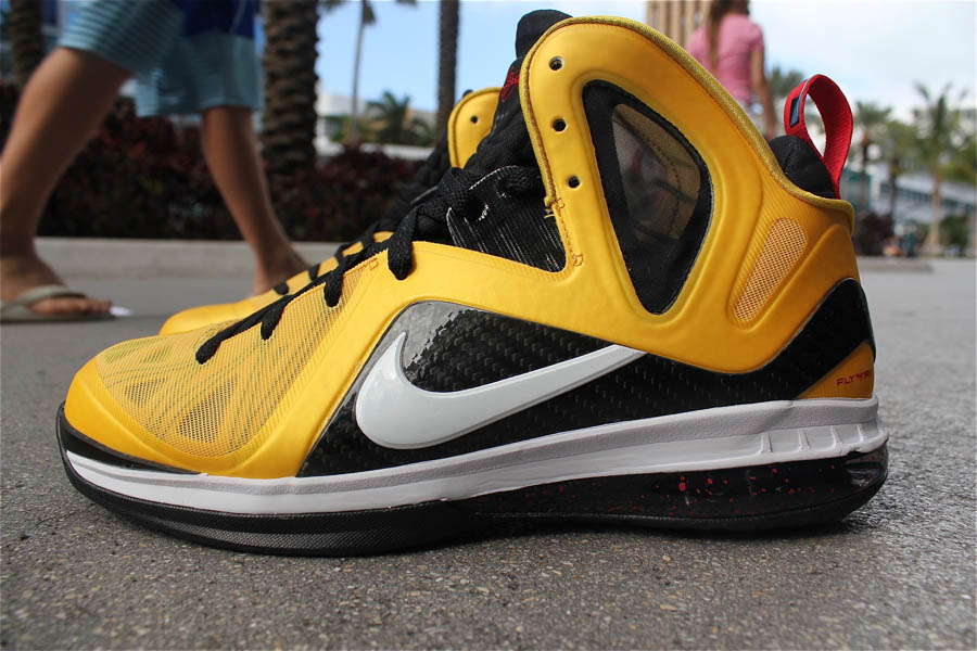 great fit 1888c 949b9 Nike LeBron 9 P.S. Elite Taxi Maize Black White Sport Red 516958-700 (1
