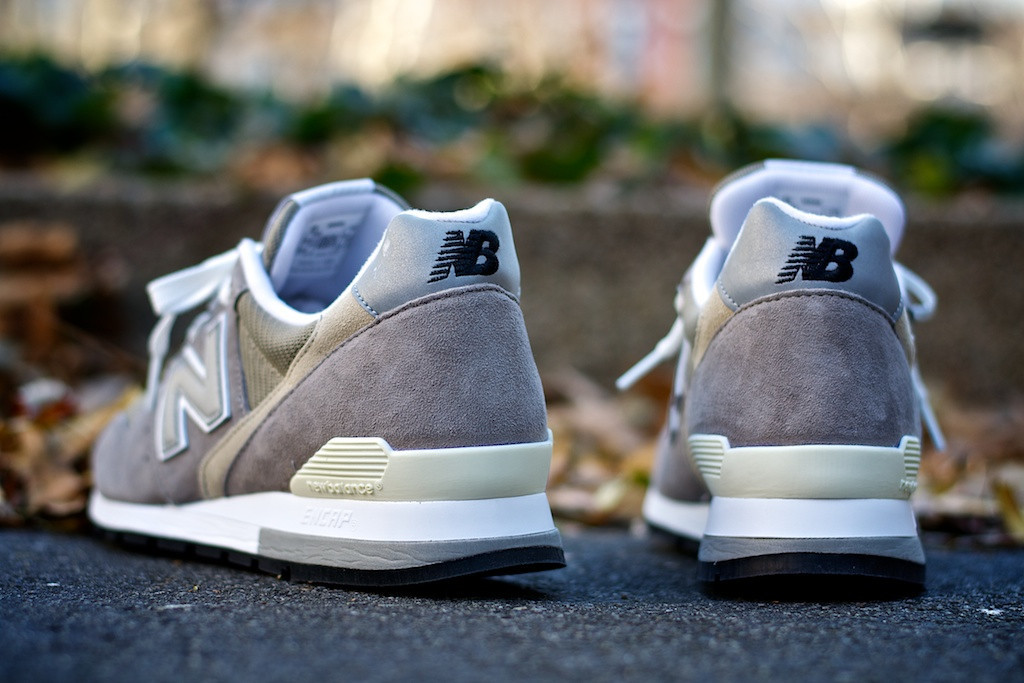 best website e5fba 9f861 The timeless New Balance 996 is available in its traditional grey colorway.