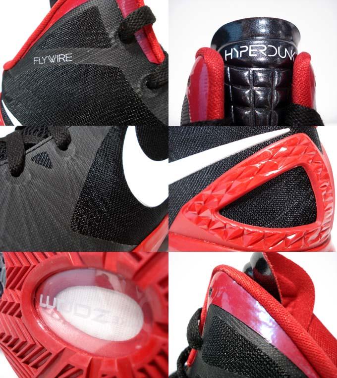 sports shoes c7f32 708e7 Nike Hyperdunk 2011 TB Black White Varsity Red Metallic Silver 454143-004