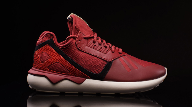 timeless design 05b5f 4648d Red reptilian for the adidas Originals Tubular Runner.