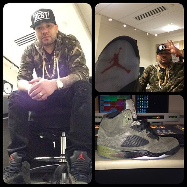 sale retailer 61f5c cc3a6 DJ Envy wearing Air Jordan V 5 Fear Pack