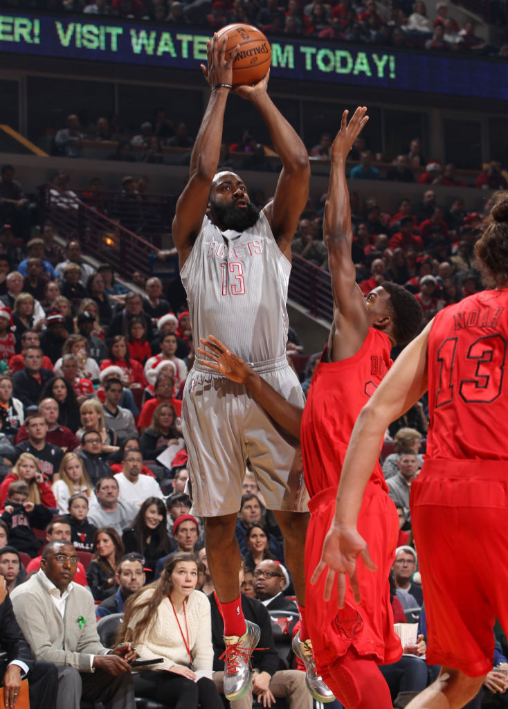 James Harden wearing Nike Lunar Hypergamer Christmas PE (3)