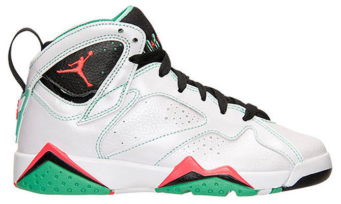 Air Jordan VII 7 GS WhiteInfrared-Black-Verde 705417-138 (